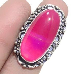 Botswana Agate Ethnic Jewelry Handmade Ring Size-8